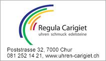 Uhren, Schmuck & Edelsteine, Regula Carigiet